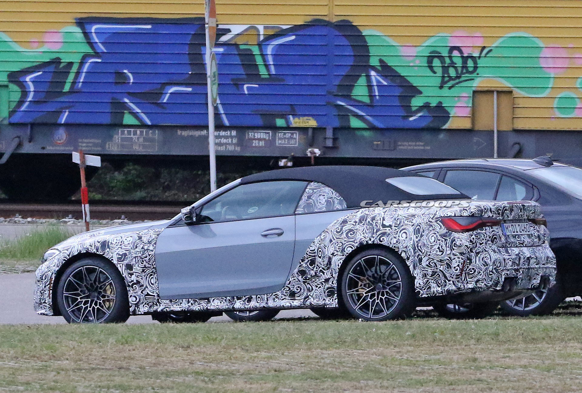 New 2021 BMW M4 Convertible Spied In Frozen Blue | Carscoops