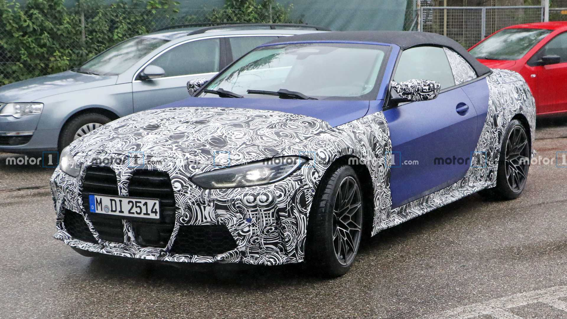 2022 BMW M4 Convertible Spied With Predictably Controversial ...