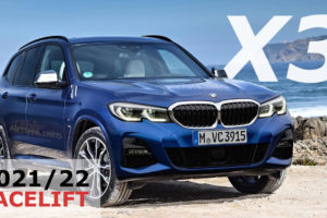 BMW X3 Facelift 2021 or 2022 with G01 LCI Changes in Renders based on M40i  M-Sport Model or iX3