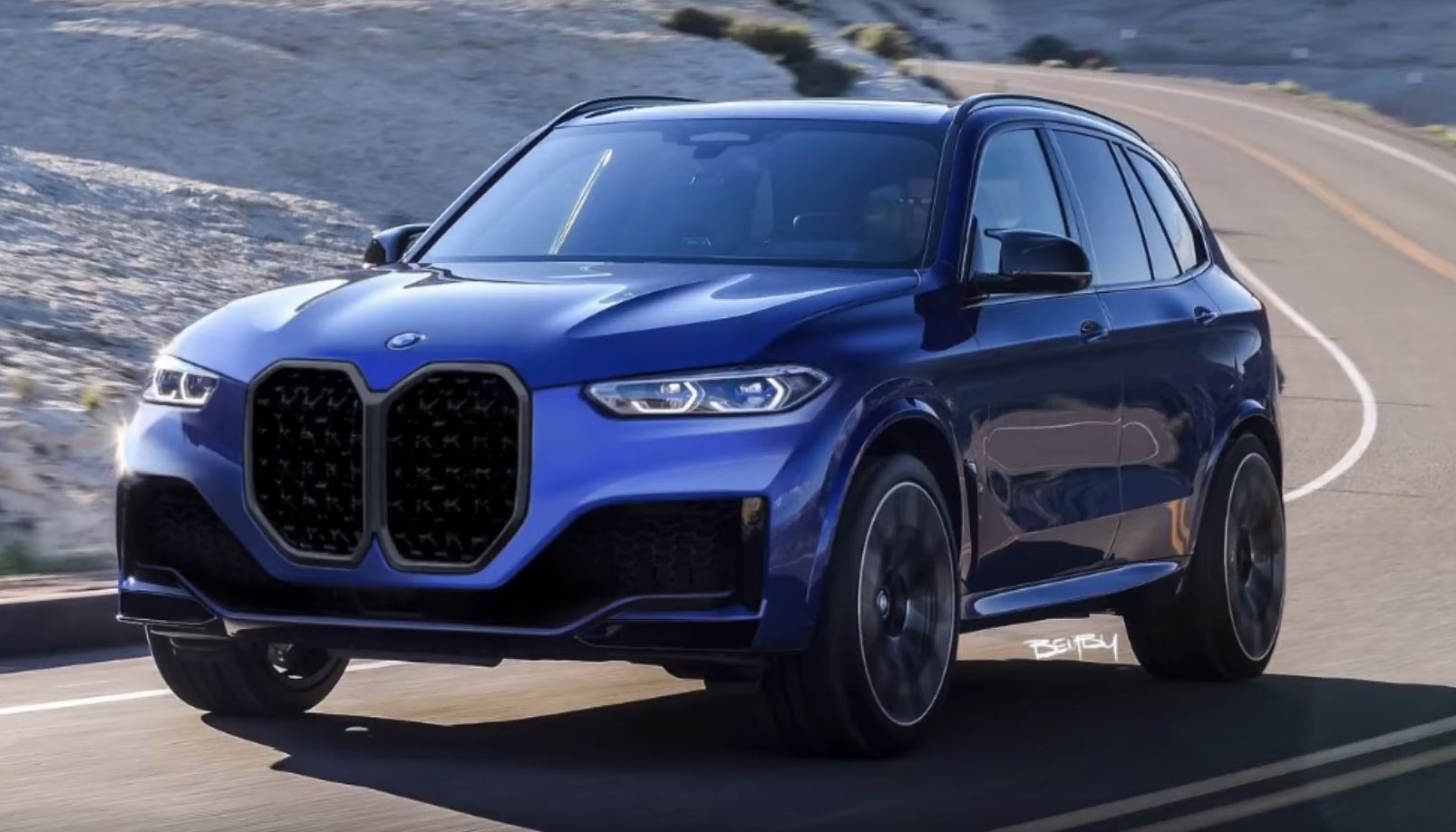 2022 BMW X5 Gets Tall Grille Digital Facelift, Looks Weird ...