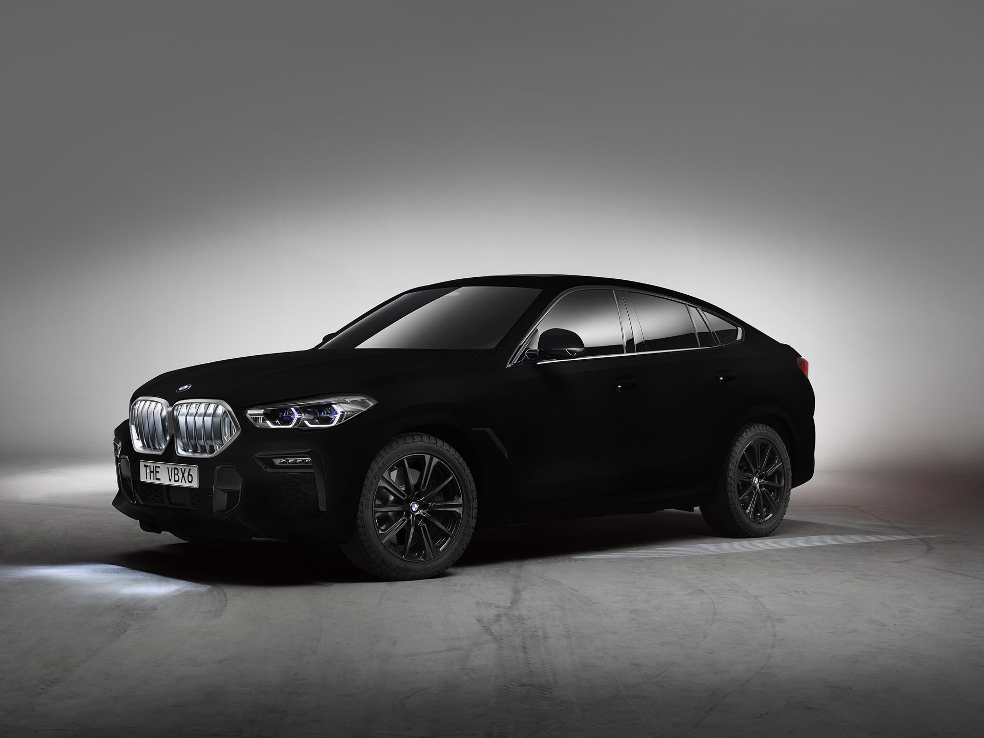 This 2020 BMW X6 is painted in the world's blackest black