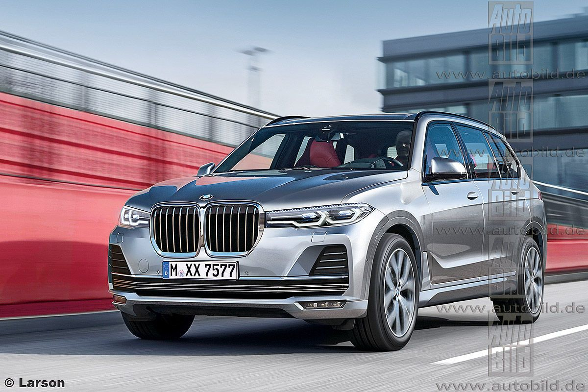 BMW X7 rendering shows an attractive design | Bmw x7, Bmw, Suv