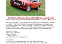 Calaméo - BMW 1982-1993 3-SERIES E30 WORKSHOP REPAIR ...