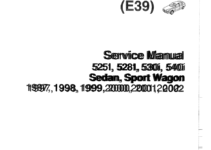 BMW 540i 1997 E39 Workshop Manual (1002 Pages)