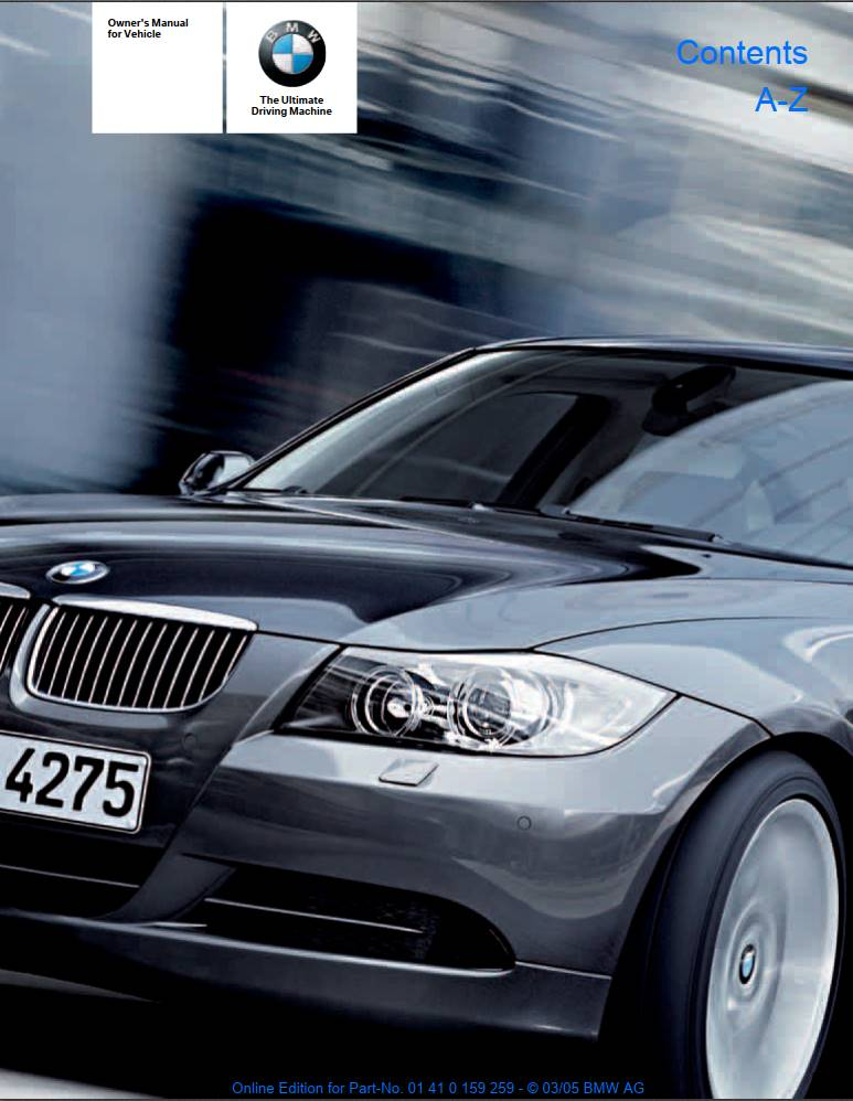 Bmw 330i Sedan With Idrive 2005 Owner s Manual PDF Download