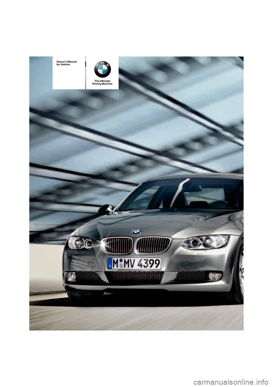 BMW 328XI COUPE 2008 E92 Owner's Manual (272 Pages)