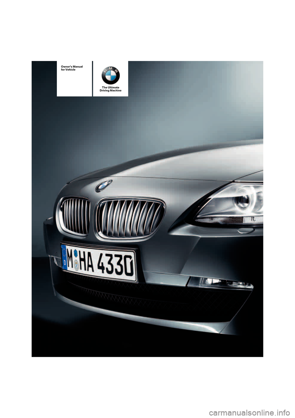 BMW Z4 3.0I ROADSTER 2008 E85 Owner's Manual (132 Pages)