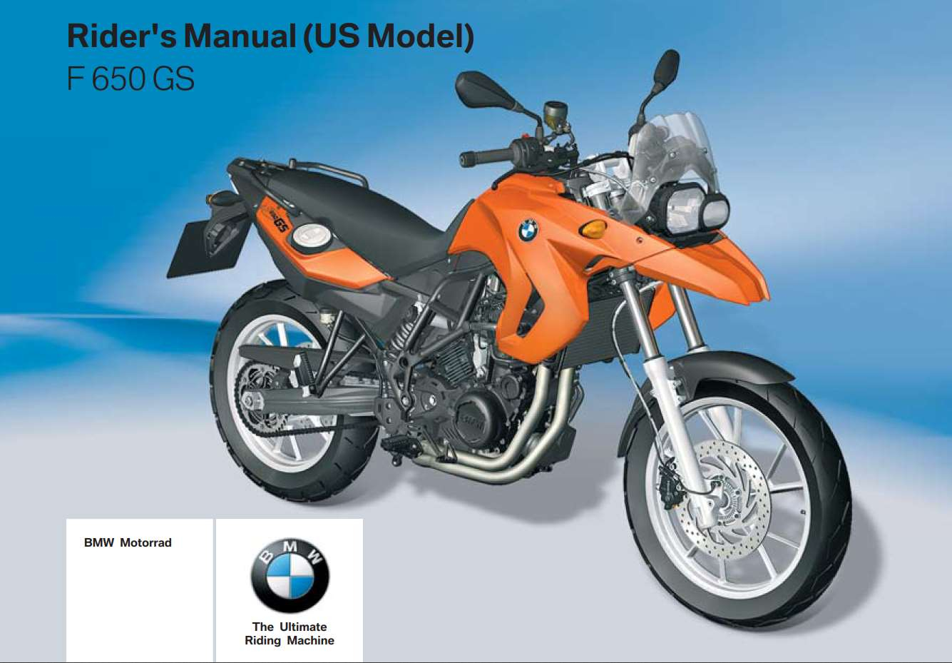 BMW F 650 GS 2nd US 2009 Owner s Manual PDF Download