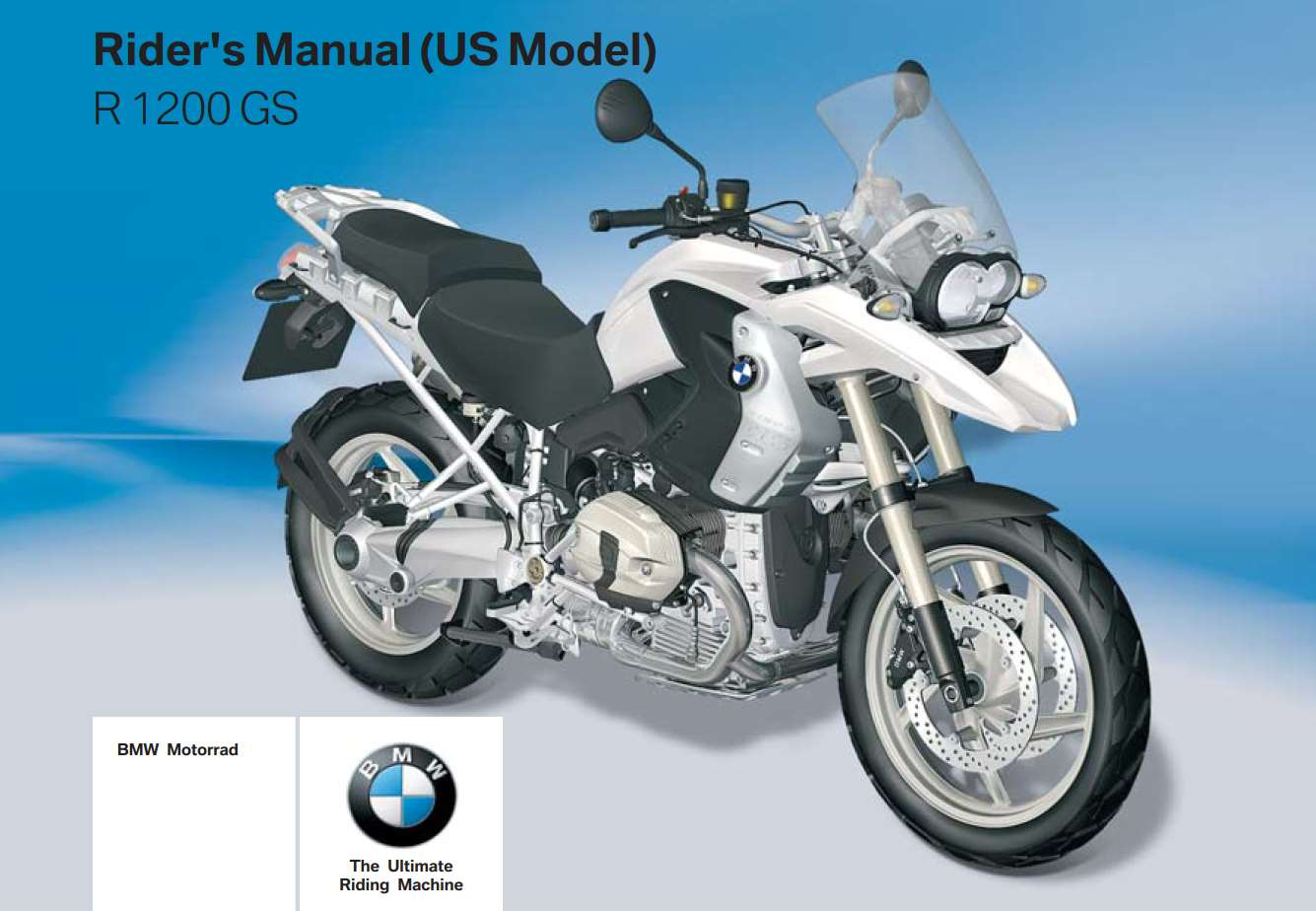 BMW R 1200 GS 2010 Owner's Manual – PDF Download