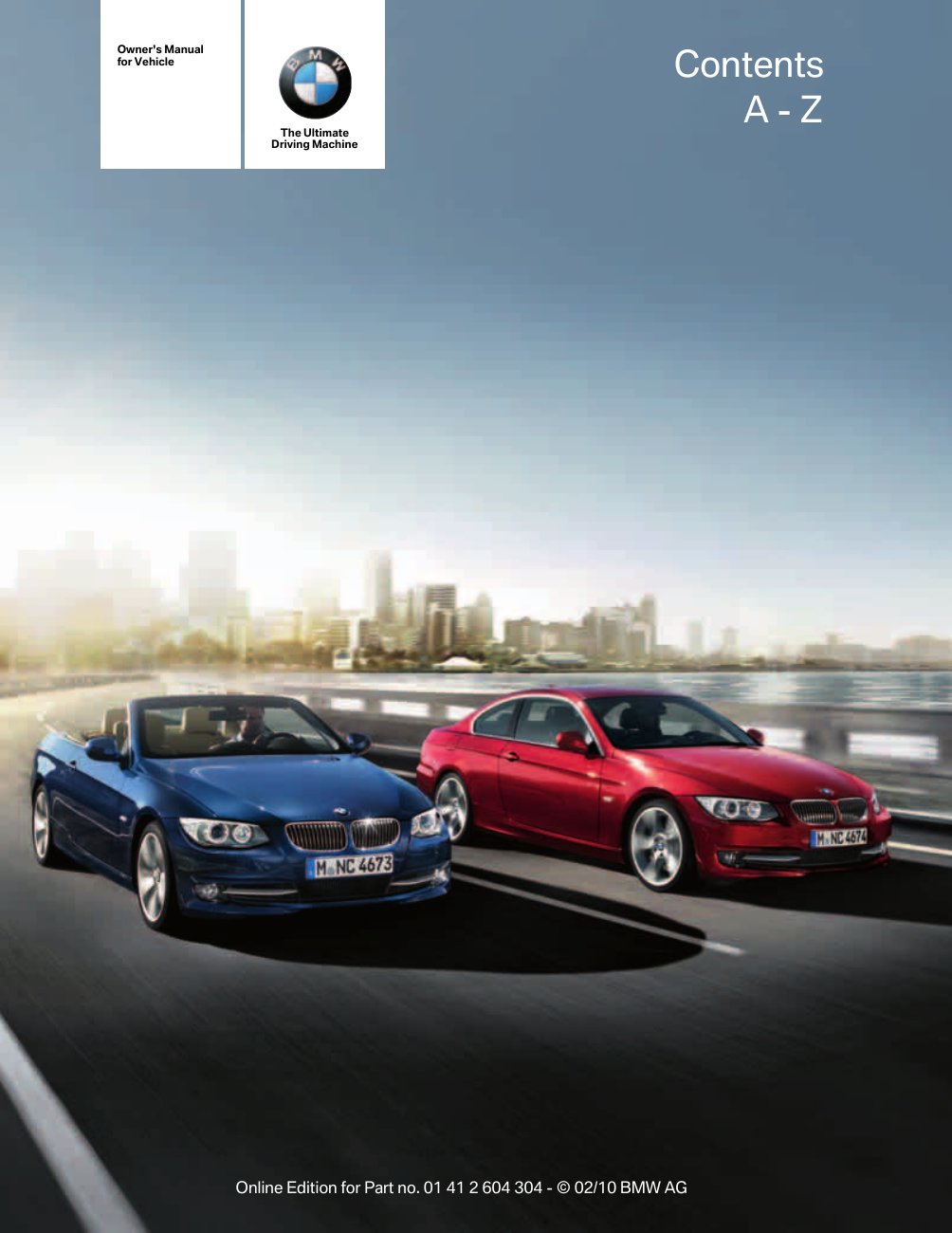 Bmw 2011 328I Coupe Owners Manual