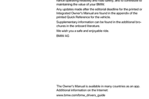 BMW 5 SERIES 2015 F10 Owner s Manual 277 Pages