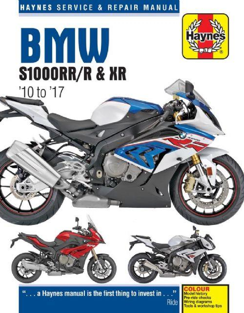 BMW S1000RR R XR 2010 2017 Haynes Owners Service