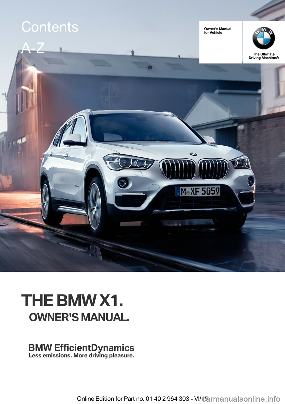 BMW X1 2016 F48 Owner's Manual (242 Pages)
