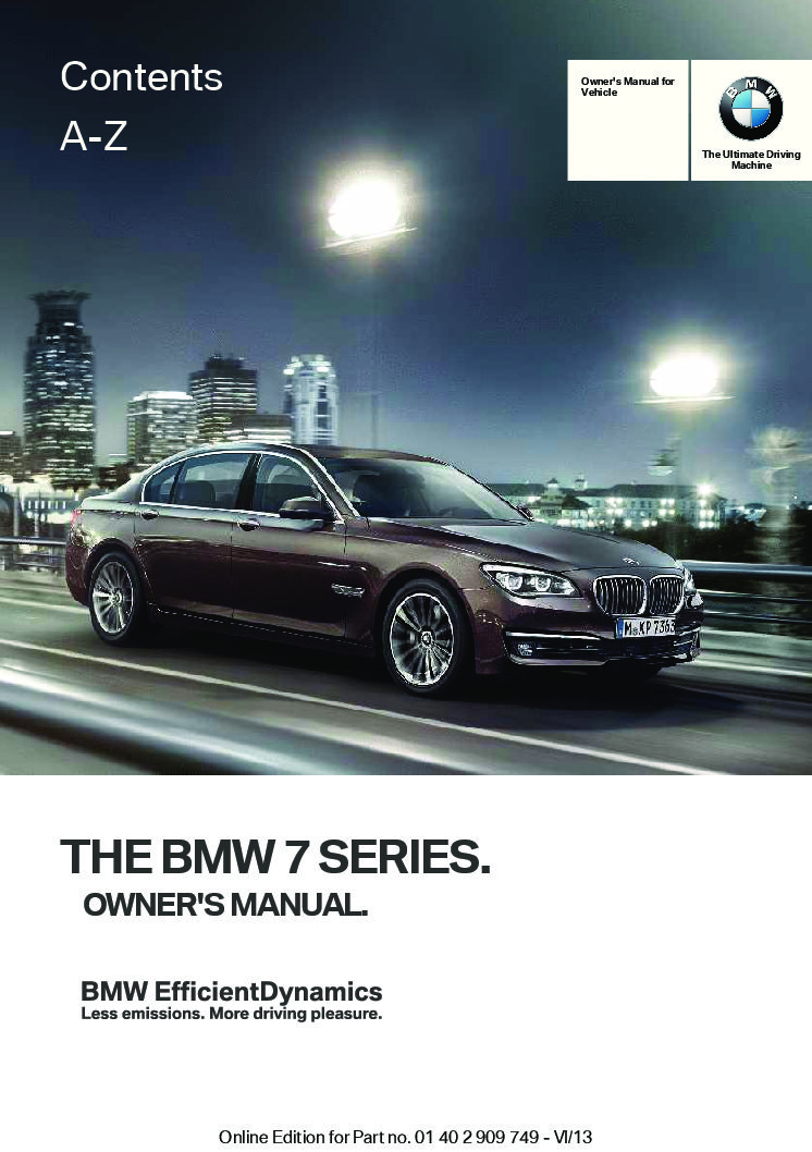 2017 Bmw 740i X-drive Owner's Manual | Just Give Me The Damn ...