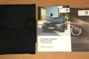2018 BMW 4 Series Gran Coupe Owners Manual Book GENUINE