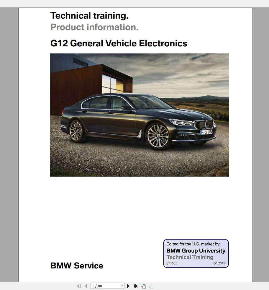BMW 7 Series G12 2016 On Technical Training Homepage