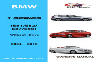 BMW 128i Owners Manual 2013 Owners Manual