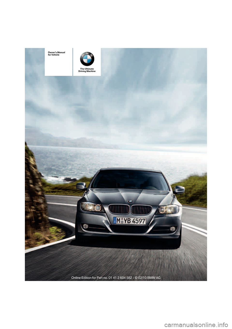 BMW 323I 2011 E90 Owner's Manual (286 Pages)