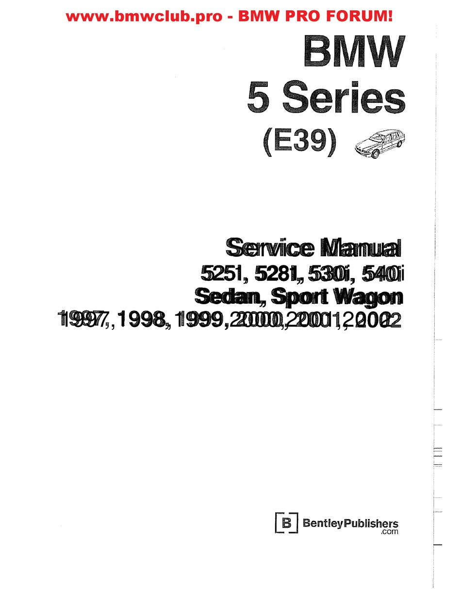 BMW 5251 SERVICE MANUAL Pdf Download | ManualsLib