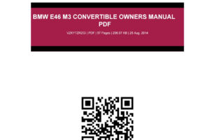 Bmw E46 M3 Convertible Owners Manual Pdf By Dianne Issuu