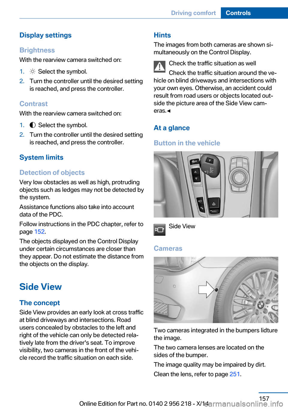 BMW 5 SERIES 2014 F10 Owner s Manual 273 Pages Page 170