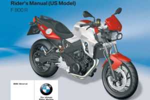 BMW F 800 R 4th US 2011 Owner s Manual PDF Download