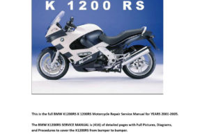 01 05 Bmw K1200rs K1200 Rs Motorcycle Service Manual Pdf
