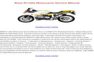 BMW R1100s Owners Manual Pdf Volkswagen Owners Manual