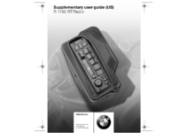 R1150RT Radio manual | Manualzz
