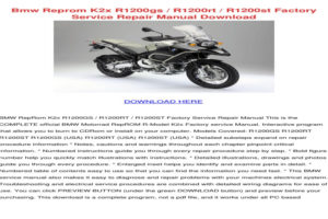 2010 BMW R1200gs Owners Manual Pdf Volkswagen Owners Manual