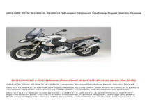 BMW R1200gs 2004 Owners Manual Pdf Volkswagen Owners Manual