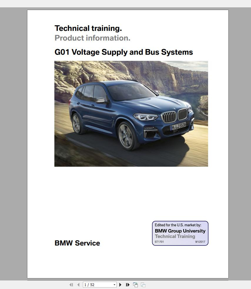 BMW X3 G01 2018 On Technical Training Homepage The