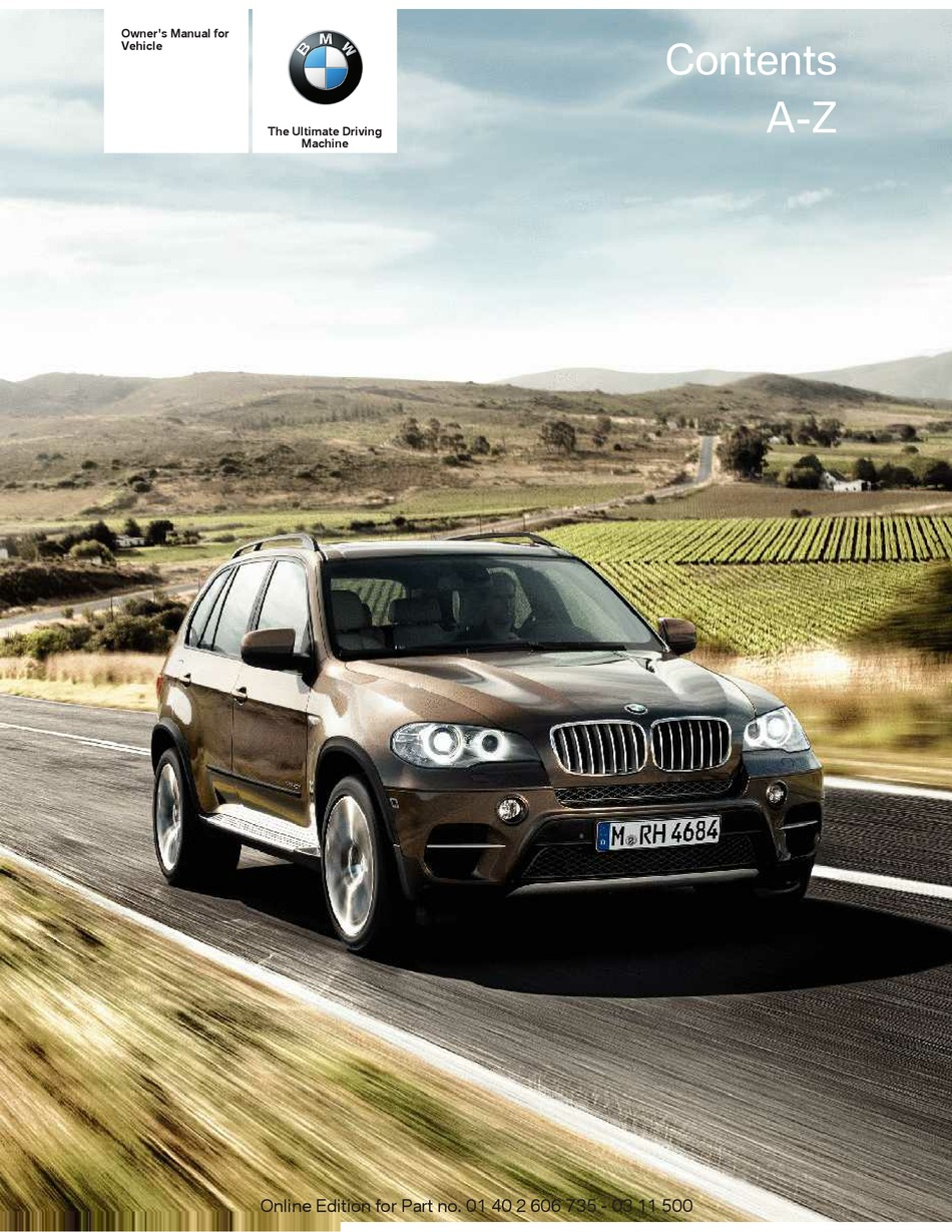 BMW X5 XDRIVE35I OWNER'S MANUAL Pdf Download | ManualsLib
