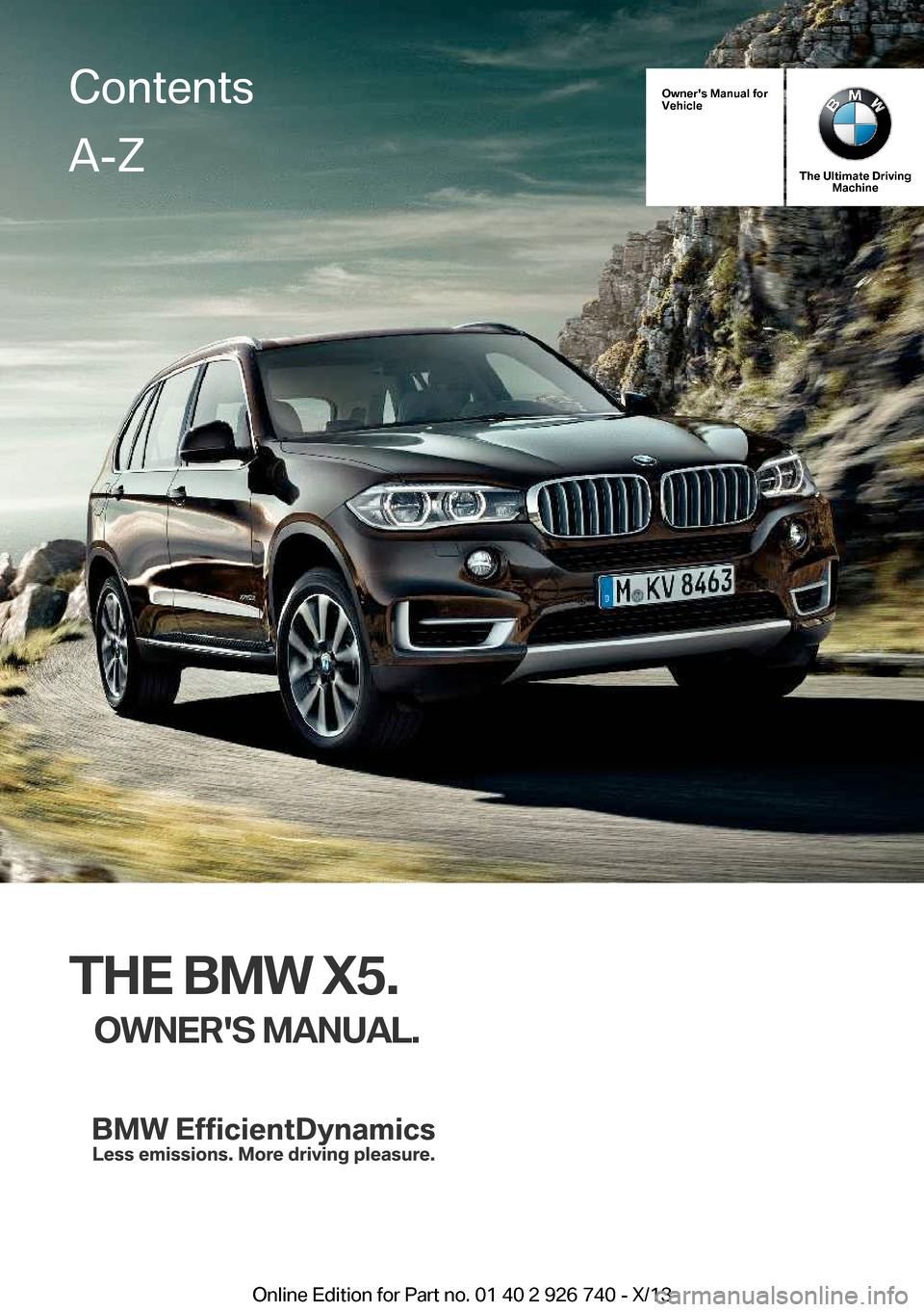 BMW X5 2014 F15 Owner's Manual (265 Pages)