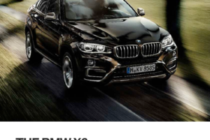 BMW X6 2016 F16 Owner's Manual (265 Pages)